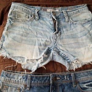 Bundle of cut of jeans